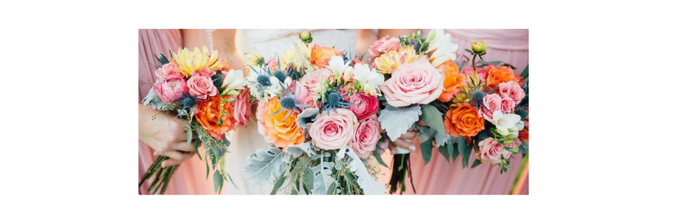 Bring your color swatches and photos of your material so that our design experts can help create stunning wedding flowers to match your style.