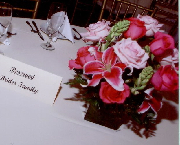 Mixed Pink Rose and Stargazer Lilly Centerpiece