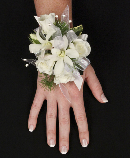 Beautiful white corsage personal flowers gallery image this beautiful white corsage is great for a wedding or prom it mightylinksfo